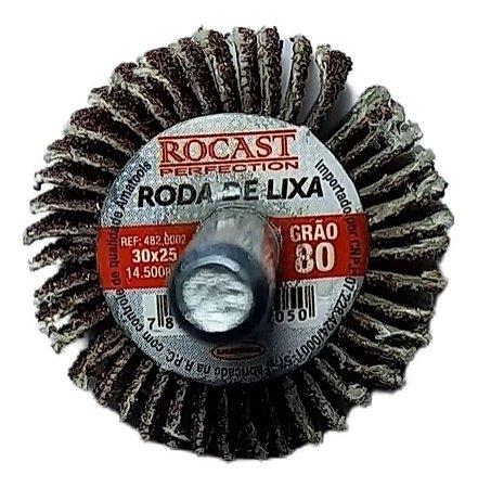 RODA DE LIXA 30X25 GR.80 ROCAST 4820002 ROCAST