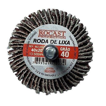 RODA DE LIXA 60X30 GR.40 ROCAST 4820010 ROCAST