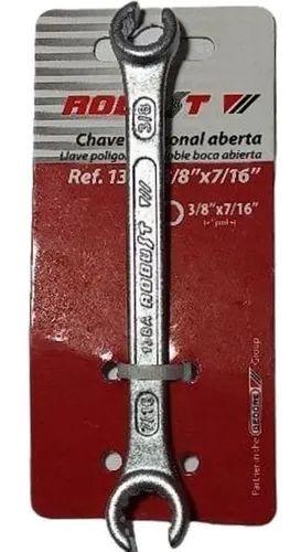 CHAVE ESTRELA ABERTA POLIGONAL 3/8 X 7/16 13BA3/8X7/16 ROBUST
