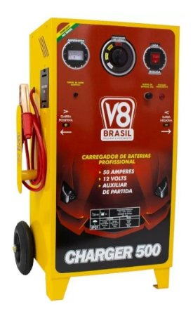 CARREGADOR DE BAT. CHARGER 500-50A BIV. AUX.PART. 97614 V8-BRASIL