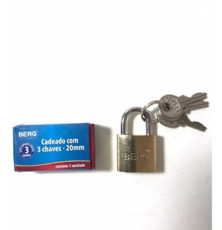 CADEADO C/3 CHAVES 20MM 6010020 BERG