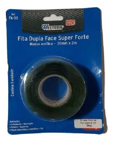 FITA DUPLA FACE FORTE 30MMX2M WFA30 WESTERN