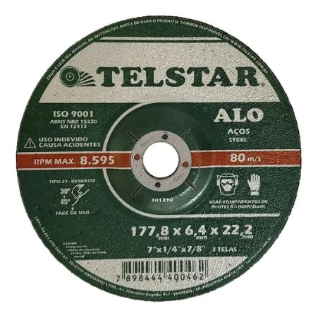 DISCO DESBASTE 7X1/4X7/8 TELSTAR