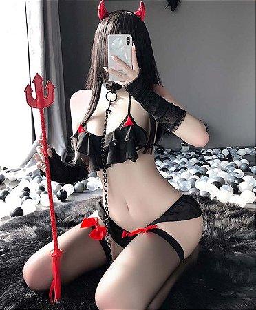 Lingerie Devil Girl