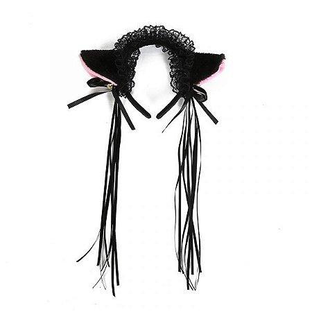 Orelha de Gatinho Lolita - Preto