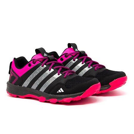 Tênis Adidas Kanadia TR7 Preto e Rosa