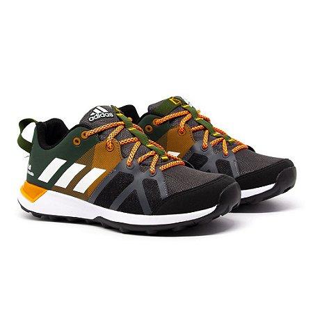 Tênis Adidas Kanadia TR8 Verde e Laranja