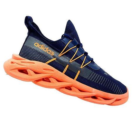 Tênis Adidas Yeezy Maverick Marinho e Laranja