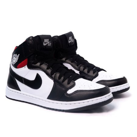 Tênis Nike Air Jordan 1 MID Branco e Preto