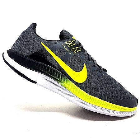 Tênis Nike Dynamic Fit Cinza e Verde