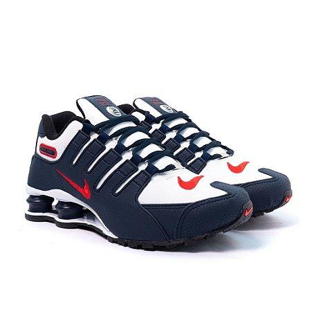 Tênis Nike Shox NZ Marinho e Branco