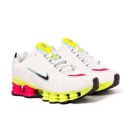 Tênis Nike Shox TLX 12 Molas Refletivo Premium Branco e Verde