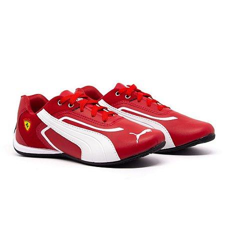 Tênis Puma Ferrari New Vermelho e Branco