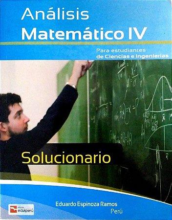SOLUCIONÁRIO ANÁLISE MATEMÁTICO IV