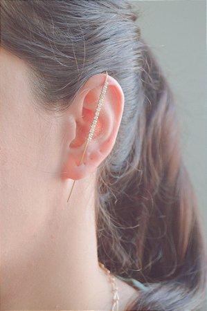 Brinco Ear Pin Cravejado