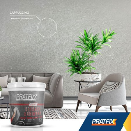 Cimento Queimado Perolizado Cappuccino 5Kg
