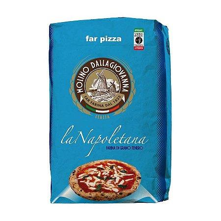Farinha Italiana 00 La Napoletana Molino dalla Giovanna Longa Fermentação 1kg