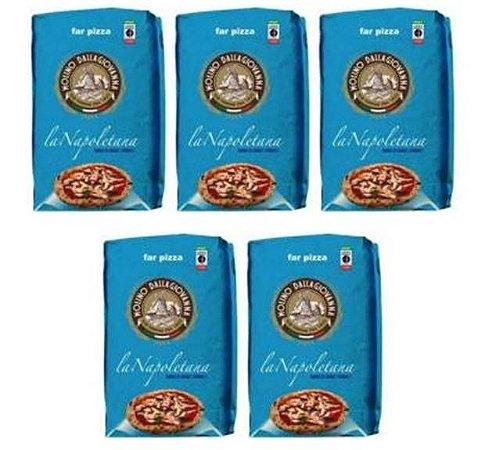 Farinha Italiana 00 La Napoletana Molino dalla Giovanna Pack 5 Kg