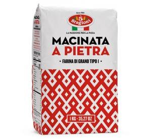 Farinha Italiana Macinata a Pietra Le 5 Stagioni 1kg