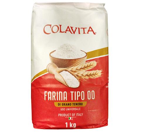 Farinha Italiana Tipo 00 Colavita Uso Geral 1kg