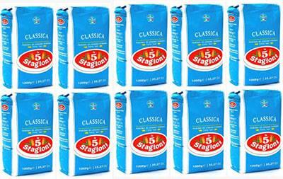 Farinha Italiana Tipo 00 Le 5 Stagioni Clássica Pack 10 kg