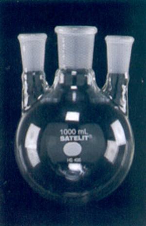 Frasco para Destilação com Três Bocas Paralelas Esmerilhadas