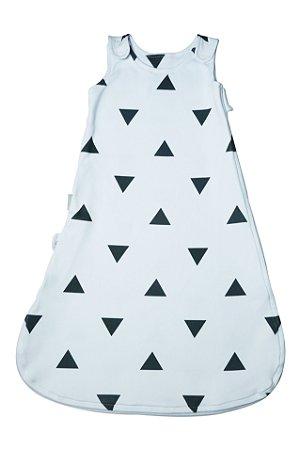 Saco de Dormir de Suedine Triângulos - Algodão Egípcio Estampado