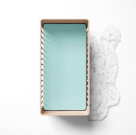 Lençol de elástico berço - Liso Verde
