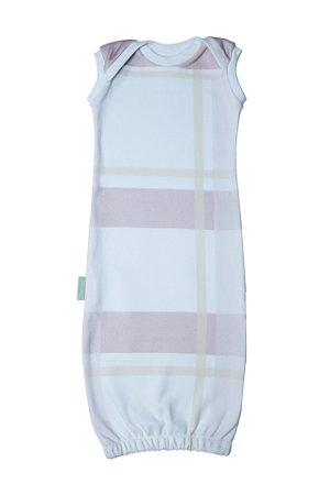Primeiro Pijama - Regata Estampa Xadrez Rosa
