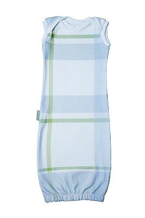 Primeiro Pijama - Regata Estampa Xadrez Azul