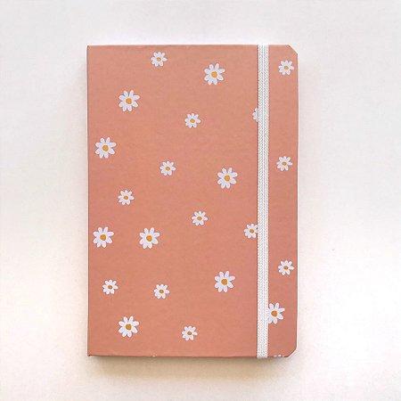 Caderno A5 Pontilhado Flores