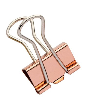 Binder Clips Color Plus Ouro Rose 19mm - Caixa c/ 12