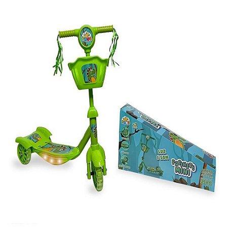 Patinete Mini Dinossauro 3 Rodas Zoop Toys - Verde ZP00785
