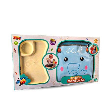 Cadeirinha Alimentação Portátil - Elefantinho - Zoop Toys