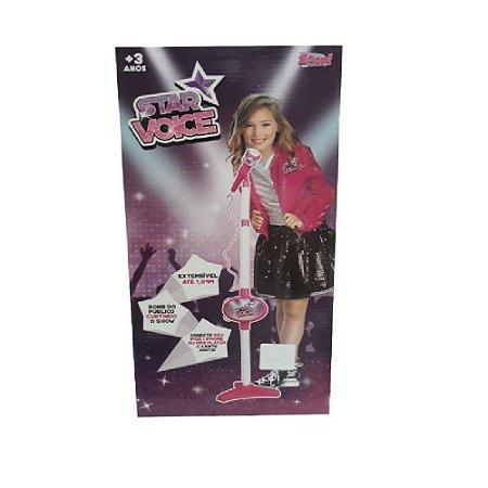 Rosa Rock Star Microfone Infantil - Zoop Toys