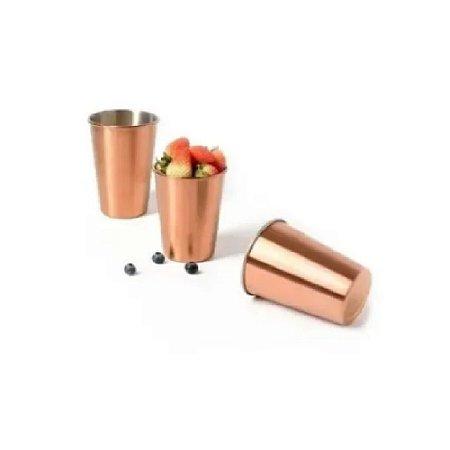Cj de Copos inox Rose Gold 500 mls c/6 und - Wincy
