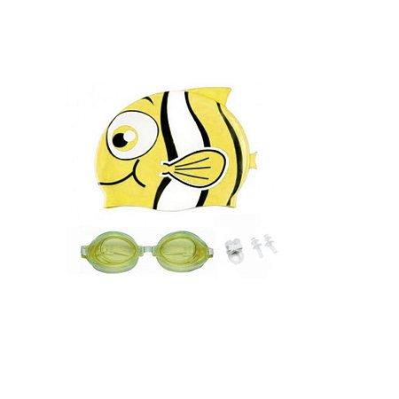 Kit Natação 3 Peças Amarelo - Wincy