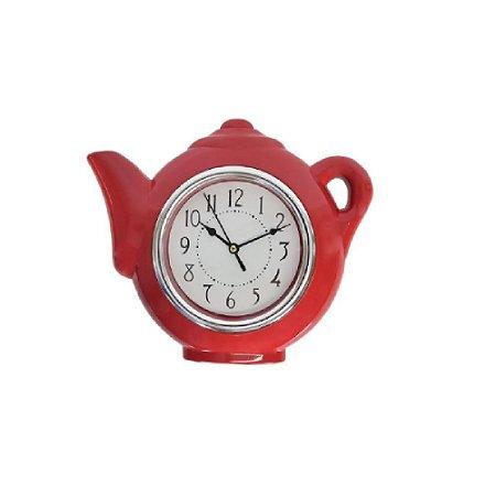 Relógio De Parede Bule 25x28 cm Vermelho - Wincy
