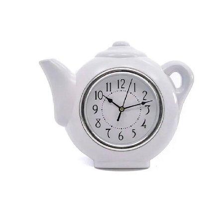 Relógio De Parede Bule 25x28 cm Branco- Wincy