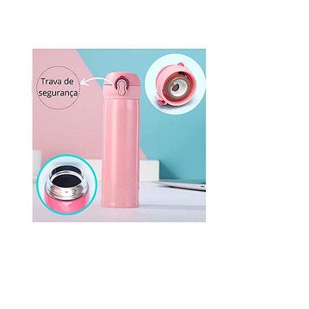 Garrafa Inox 500ML Rosa- Wincy