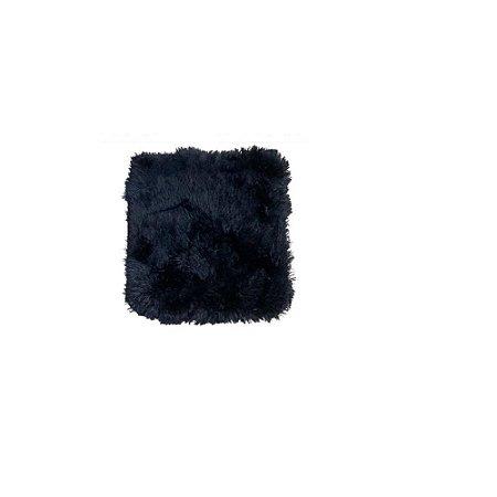 Capa de Almofada Peluda Preto - FWB