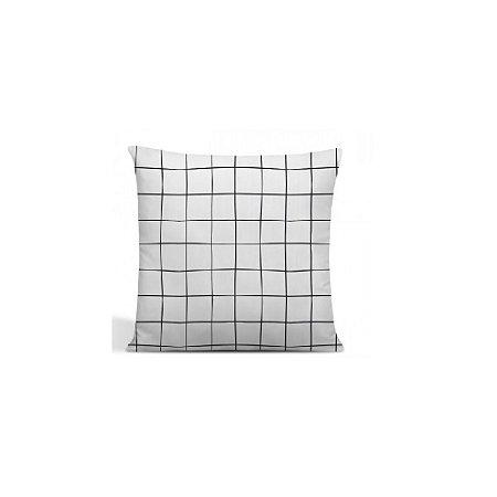 Capa de almofada Grid  Branca– FWB