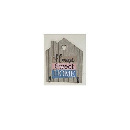 Enfeite madeira c/ gancho de metal home sweet home – FWB