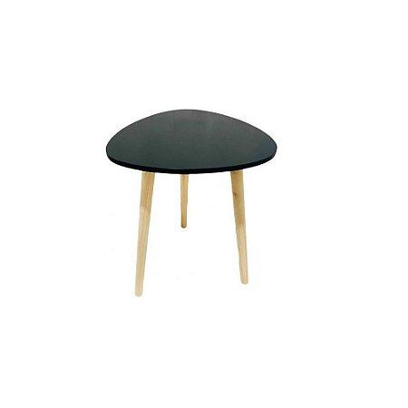 Mesa decorativa de madeira Preto – FWB