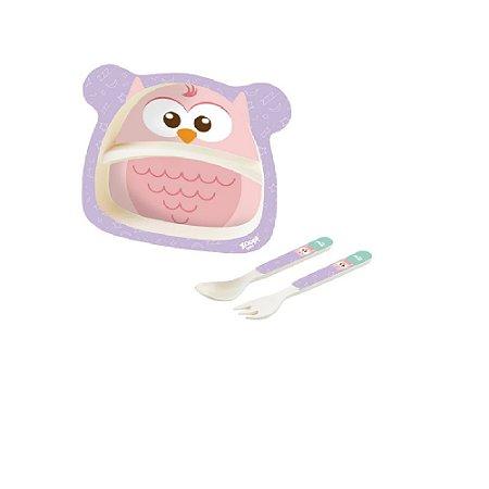 Kit Alimentação Baby 3 Peças Coruja - Zoop Toys