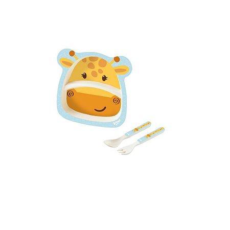 Kit Alimentação Baby 3 Peças Girafa - Zoop Toys