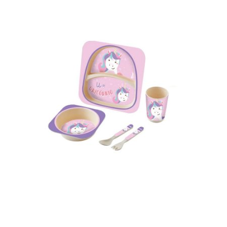 Kit Alimentação Baby 5 Peças Unicórnio - Zoop Toys