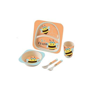 Kit Alimentação Baby 5 Peças Abelha - Zoop Toys