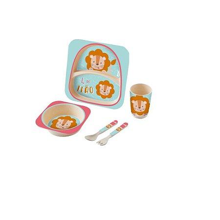 Kit Alimentação Baby 5 Peças Leão - Zoop Toys