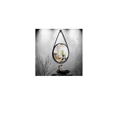 Espelho Decorativo Com Moldura Preto- FWB